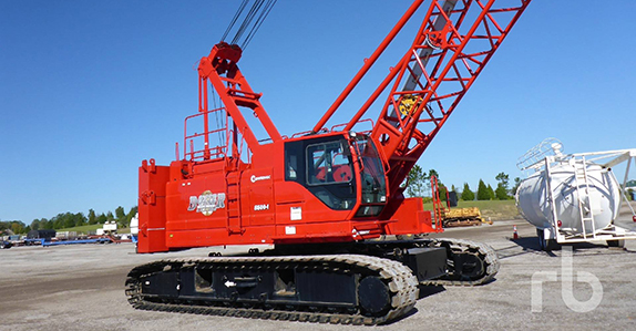 this 2014 Manitowoc 8500-1 85-ton self-erecting crawler crane is selling in Orlando on Feb. 22